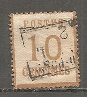 ALSACE-LORRAINE  Yv. N° 5  (o)    10c  Bistre-brun  Cote 8 Euro BE  2scans - Alsace-Lorraine
