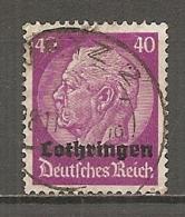 ALSACE-LORRAINE  Yv. N° 35  (o)   40c  Lothringen   Cote 1,5 Euro BE  R 2 Scans - Elsass-Lothringen