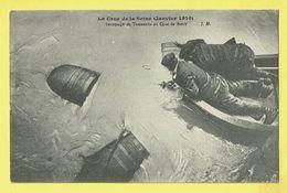* Paris - Parijs (Dép 75 - Capital De La France) * (J.H.) Crue De La Seine Janvier 1910 Sauvetage Tonneaux Quai De Bercy - Inondations De 1910