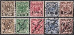 Africa Oriental Colonia Alemana Germany Nº 1/5 + 6/10 Aguila Eagle Usados Y MH - Sellos