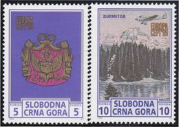 Montenegro SN 1999 Escudo Paisajes MNH - Sellos
