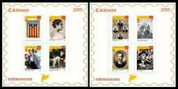 Catalunya Catalonia 2018 Hojitas De Pruebas Filatélicas En Color - Sellos
