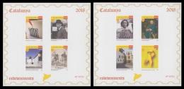 Catalunya Catalonia 2018 Hojitas De Pruebas Filatélicas En Color Llaç Groc 1-O - Sellos