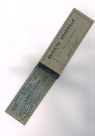 Carnet De Chèque De La Société Générale Paris - CHQ 3637 Lurand Moissac Reste 24 Chèques - 1 Utilisé 1951 - Chèques & Chèques De Voyage