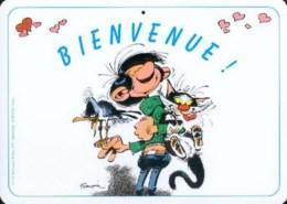 GASTON LAGAFFE : Plaque Plastique BIENVENUE - Franquin