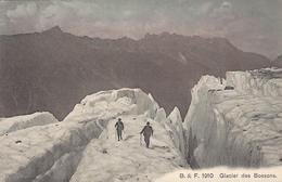 74 LES BOSSONS ALPINISTES AU GLACIER DES BOSSONS VALLEE DE CHAMONIX MONT BLANC EDITEUR FRANCO SUISSE BF 1910 - Chamonix-Mont-Blanc