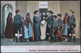 Bilder Aus Dem Volksleben Des Schwarzwalds Hannes U Michel Vor Der Theaterkasse Casse!!! 1907 Théâtre Populaire - Europe