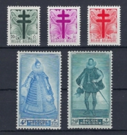 Belgique 1948 Antituberculeuses Nº 787/791 * . Cat 37€ - Belgium