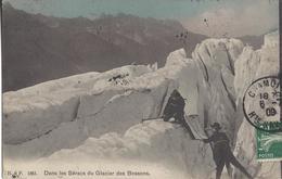 74 LES BOSSONS ALPINISTES AU GLACIER DES BOSSONS VALLEE DE CHAMONIX MONT BLANC EDITEUR FRANCO SUISSE BF 1861 - Chamonix-Mont-Blanc