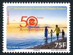 POLYNESIE 2014 - Yv. 1052 **   Faciale= 0,63 EUR - Chèques Postaux  ..Réf.POL24960 - Neufs