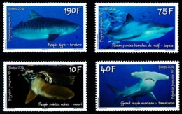 POLYNESIE 2014 - Yv. 1065 1066 1067 Et 1068 **   Faciale= 2,65 EUR - Journée De L'océan. Requins (4 Val)  ..Réf.POL24966 - Polynésie Française