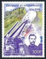 POLYNESIE 2014 - Yv. 1072 **  - 1ère Guerre Mondiale. Bombardement  ..Réf.POL24972 - Nuevos