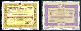 POLYNESIE 2013 - Yv. 1044 Et 1045 **  - Actions Anciennes (2 Val.)  ..Réf.POL24957 - Polynésie Française
