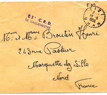 TIZI - Bureau Auxiliaire (Oran) - Lettre En Franchise Militaire -1956 - Algérie (1924-1962)