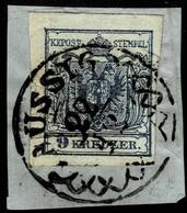 """(1850) 9 Kr. Luxus-Bfst. , Zier-Stp. """" AUSSIG """" , A2856 - 1850-1918 Empire"""