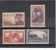 France - 1940 - N° YT 454/57** - Au Profit Des Oeuvres De Guerre - Nuovi
