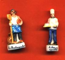 Lot De 2/10 Feves De La Série Boulangerie D'hier à Aujourd'hui 2002 - History