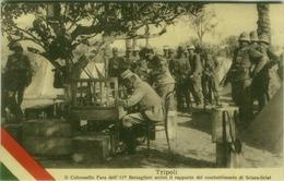 LIBYA / LIBIA - TRIPOLI - COLONNELLO FARA DELL' 11 BERSAGLIERI  - 5 OTT. 1911 ( BEGIN OF WAR ITALY / TURKEY) (BG6196) - Libia