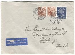 PRO JUVENTUTE 30 R. 1946 Auf Luftpost Brief Nach Schweden - Briefe U. Dokumente