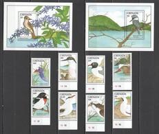 Y709 1988 GRENADA FAUNA BIRDS #1744-51 MICHEL 27 EURO 1SET+2BL MNH - Uccelli