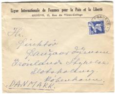 Conférence Désarmement 30 R. 1932 Seul Lettre Vers Le Danemark Ligue Internationale Des Femmes Pour La Paix E La Liberté - Covers & Documents