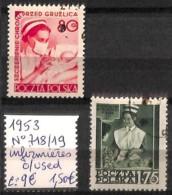 [824086]TB//O/Used-c:9e-Pologne 1953 - N° 718/19, Obl/Used, Infirmière, Santé - Gebraucht