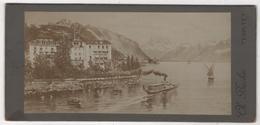 Photo Originale XIXème Par Bucher Territet Hôtel Beau Rivage Lac Bateau - Photographs
