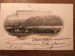 CPA, Suisse, LAUSANNE Et Les Alpes,éd Comptoir De Phototypie, Neuchâtel, écrite En 1899, Timbre - VD Vaud