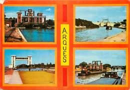 62 - Arques - Multivues - Péniches - Voir Scans Recto-Verso - Arques