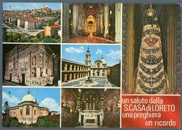 °°° Cartolina - Un Saluto Dalla S. Casa Di Loreto Una Preghiera Un Ricordo Vedute Viaggiata °°° - Ascoli Piceno
