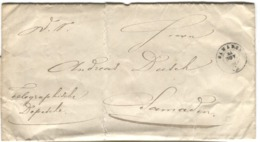 1835 TELEGRAPHISCHE DEPESCHE SAMADEN Mit Einhalt - Télégraphe