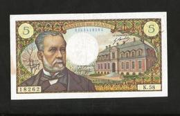 FRANCE - BANQUE De FRANCE - 5 Francs PASTEUR  ( K. 5 - 5 - 1967 ) - 1962-1997 ''Francs''