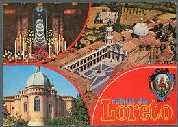 °°° Cartolina - Saluti Da Loreto Vedute Viaggiata °°° - Ascoli Piceno