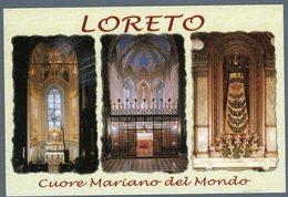 °°° Cartolina - Loreto Cuore Mariano Del Mondo Vedute Viaggiata °°° - Ascoli Piceno
