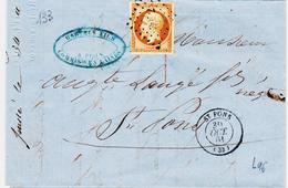 France, Napoleon N°13 B  De Saint Pons Pour  Pour Saint Pons TB Avec Courrier - 1849-1876: Période Classique