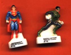 Lot De 2/12 Feves De La Série Les Comics Mes Supers Héros 2013 - Comics