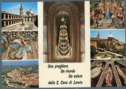 °°° Cartolina - Una Preghiera Un Ricordo Un Saluto Dalla S.casa Di Loreto Vedute Viaggiata °°° - Ascoli Piceno