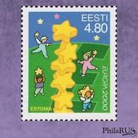 [ Joint Issue >50 Countries ] ESTONIA 2000 Mi.371 Europa Children & Stars / 1v (MNH **) - Emissions Communes