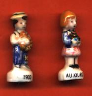 Lot De 2/? Feves De La Série Boulangers à Travers Les époques 1996 - Geschichte