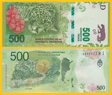 Argentina 500 Pesos P-365 2016 (Series  I) UNC Banknote - Argentina