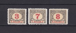 Bosnien-Herzegowina - Österreichische Besetzung - Porto - 1904 - Michel Nr. 3 G + 7/8 G - 60 Euro - Bosnia And Herzegovina