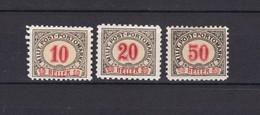 Bosnien-Herzegowina - Österreichische Besetzung - Porto - 1904 - Michel Nr. 9 G + 11/12G - 60 Euro - Bosnia And Herzegovina
