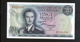 LUXEMBOURG - 20 FRANCS (1966) - Luxemburgo