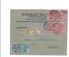 Timbres SAAR Recommandé Pour La France SAARBRUCKEN 2 - 1947-56 Occupazione Alleata