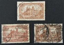 1920  Reichspostamt Mi. 114a, 114b ( Infla-geprüft,), 114c ( Infla-geprüft ) - Germany