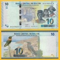 Bolivia 10 Bolivianos P-new 2018 UNC - Bolivie