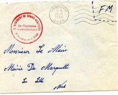 NEDROMA (Oran)) - Lettre En Franchise Militaire  - 1956 - Algérie (1924-1962)