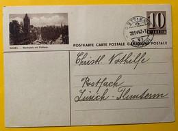 9316 - Entier Postal Illustration  Basel Marktplatz Mit Rathaus Dottikon 28.04.1947 - Interi Postali