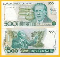 Brazil 500 Cruzados P-212d 1988 UNC Banknote - Brasil