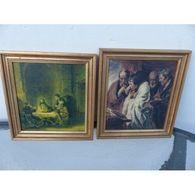 Cadre Les Disciples D Emmaus Rembrandt Image Pieuse / S233-8 / Laptg47 - Non Classés